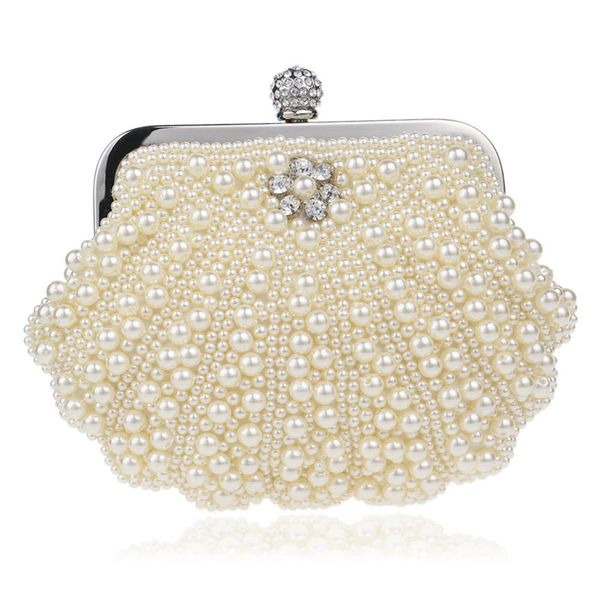 Hot beaded evening bag female fashion pearl banquet bag evening dress handbag NHYM180876
