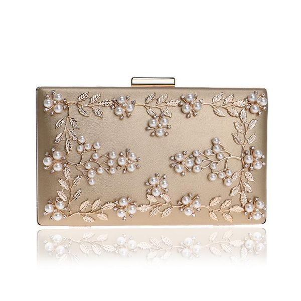 Fashion clutch bag dinner bag female banquet bag flower evening bag wholesale NHYM180877
