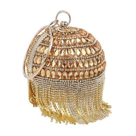 Hot fringed dinner bag women fashion ball handbag banquet evening bag NHYM180883's discount tags