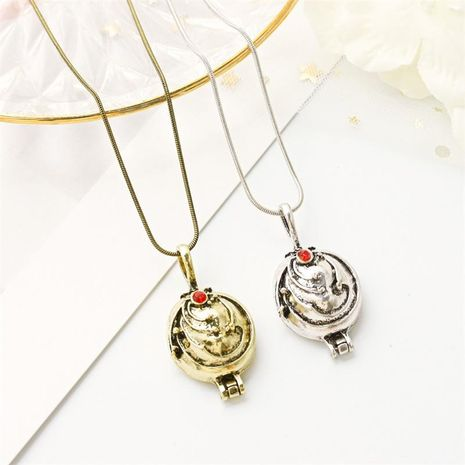 Retro jewelry short couple clavicle chain neck wholesale fashion jewelry verbena necklace NHDP181549's discount tags
