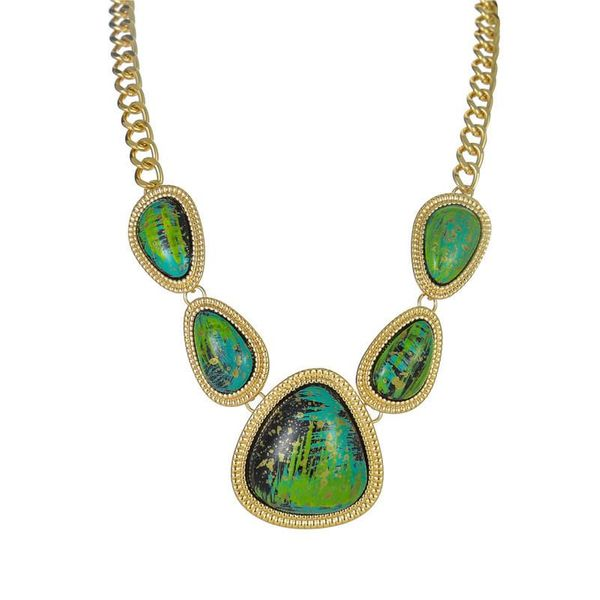 Wholesale fashion jewelry colorful gemstone trend necklace necklace clavicle chain NHZU181267