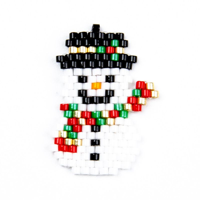 Snowman Miyuki DB Antique Bead Pendant Accessories Hand-knitted wholesale fashion jewelry accessories NHGW181474