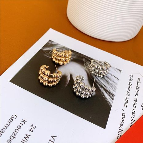 Wholesale fashion jewelry bead hoop earrings NHYQ181365's discount tags