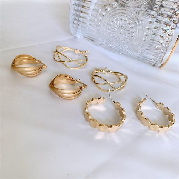 Metal hollow mesh earrings simple earrings wholesale fashion jewelry NHYQ181522