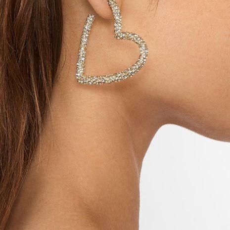 Nuevos aretes para mujer de amor exagerados pendientes de diamantes completos de moda para mujer NHOT181242's discount tags