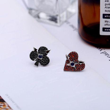 Personalidad nuevos pendientes de ciruela corazón de durazno 925 pendientes de aguja de plata esterlina femeninos NHDO181386's discount tags