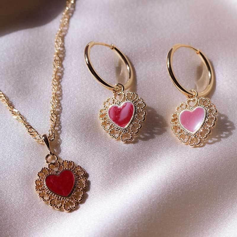 New exaggerated gold-plated love earrings still punk wind earrings women wholesales fashion NHOT181241