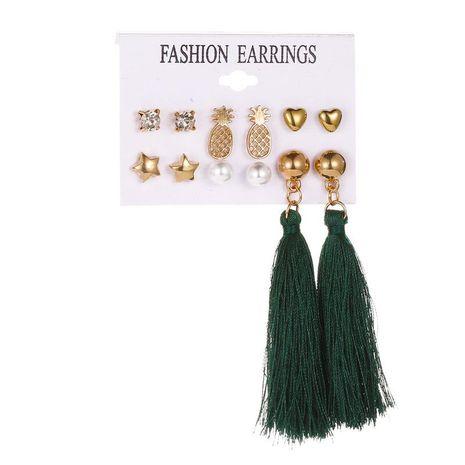 Los pendientes de borla de traje de moda aman los pendientes de piña estrella de cinco puntas NHDP181291's discount tags
