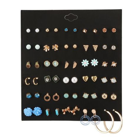 Wholesale fashion jewelry 30 pairs of pearl bow flowers love combination earrings set for women NHZU181258's discount tags