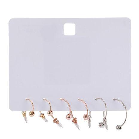Pendientes de cuentas de tres colores de geometría de moda para mujer, joyería al por mayor NHZU181261's discount tags