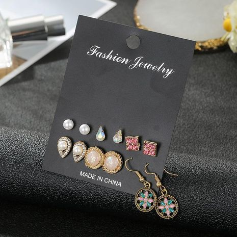 New 6 pairs of earrings set learning wholesale fashion jewelry NHSD181484's discount tags