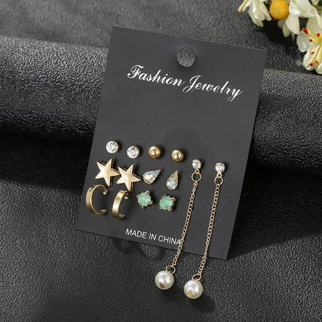 Wholesale fashion jewelry earrings 7 pairs set Korean star earrings for women jewelry NHSD181482's discount tags