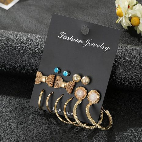 Stud earrings set fashion fashion jewelry NHSD181483's discount tags