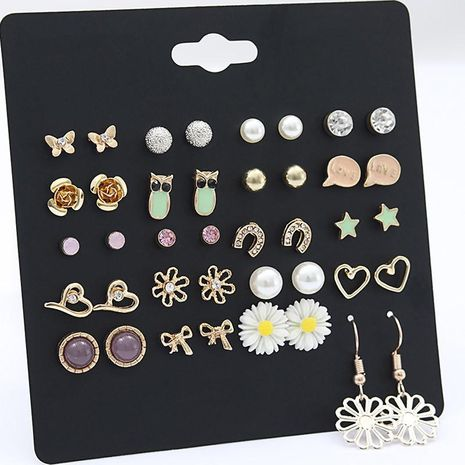 20-piece earrings for women Korean earrings wholesale fashion jewelry NHSD181486's discount tags