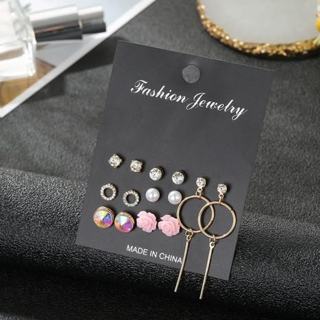 New crystal earrings 7 to South Korea gas allergy simple earrings set wholesale fashion jewelry NHSD181487's discount tags