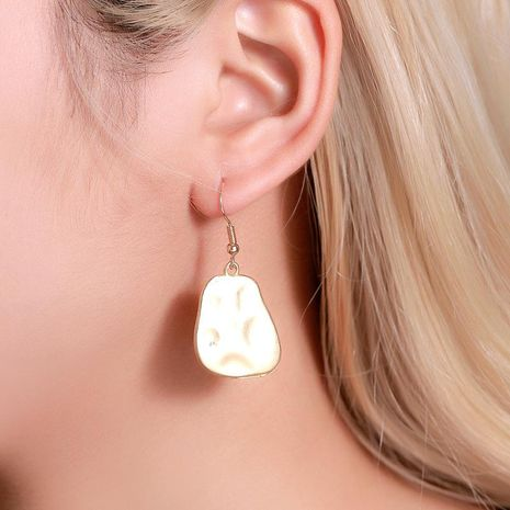 Aretes para mujer  simples pendientes irregulares hembra irregular mate al por mayor de moda NHDP181302's discount tags