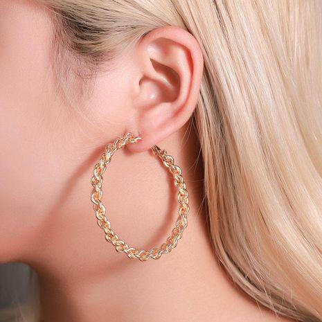 Aretes paar mujer  más vendidos exageraron los pendientes de círculo grande al por mayor de moda NHDP181304's discount tags