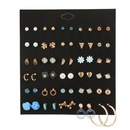 Wholesale fashion jewelry 30 pairs of pearl bow flowers love combination earrings set for women NHZU181258