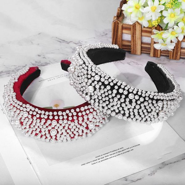 Korean new style sponge pearl hair band fashion hair accessory NHJQ181716