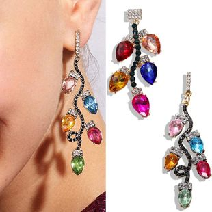 Alloy diamond earrings creative colorful dress accessories candy color rhinestone earrings NHJQ181704's discount tags