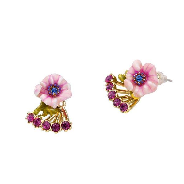 Explosion jewelry wholesale drop enamel glaze flower pendant ladies earrings wholesales fashion NHQD181783