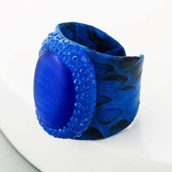 Women's Natural Agate Ring Men's Blue Snakeskin Ring  NHLN181864