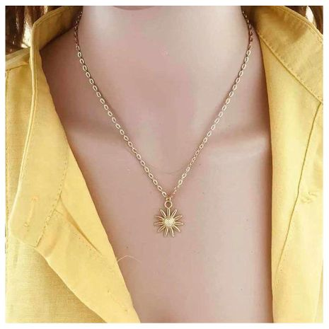 Fashion jewelry fashion sun flower pendant lady style necklace NHCT181583's discount tags