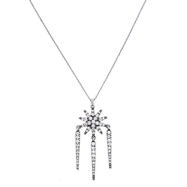 Fashion jewelry wholesale retro elegant fresh diamond star pendant ladies necklace wholesales fashion NHQD181782