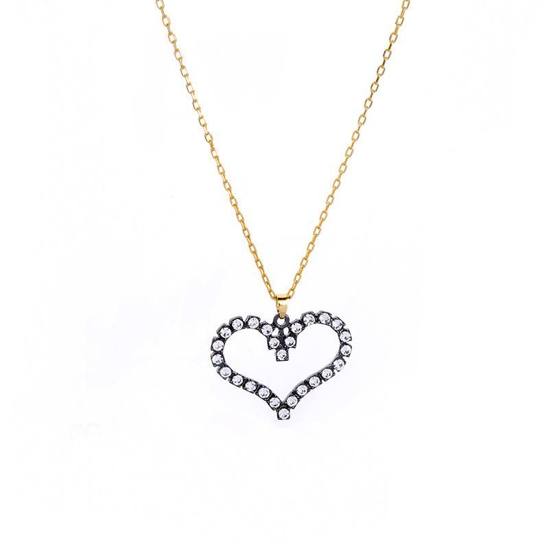 Peach Heart Pendant Necklace Women's Clavicle Chain Necklace wholesales fashion NHQD181791