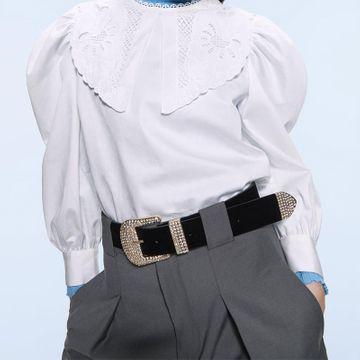 Nueva correa de cuero de moda en forma de D cinturón de diamantes de aleación accesorios de ropa simples al por mayor NHJQ181701