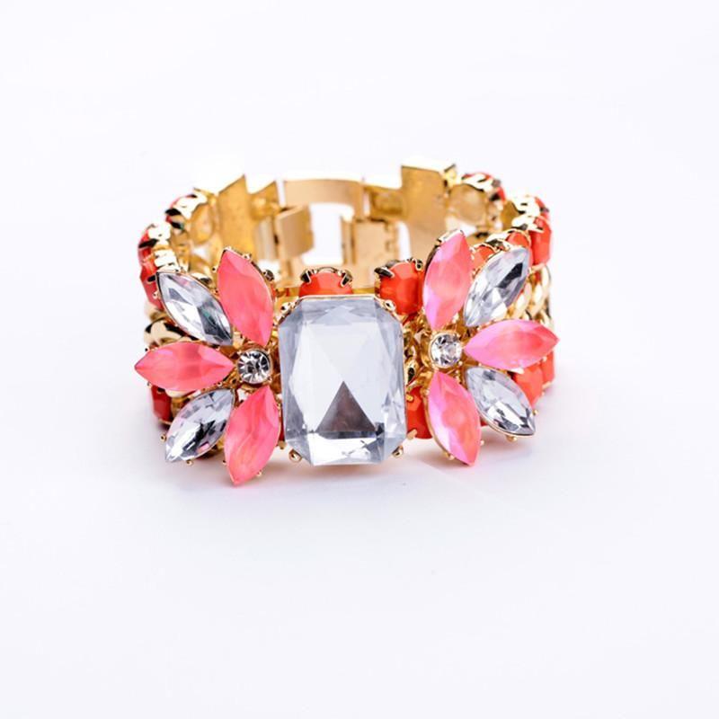 Fashion jewelry wholesale crystal diamond flower ladies bracelet wholesales fashion NHQD181757