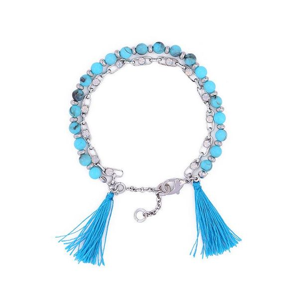 Women's simple jewelry double beaded fringed bracelet wholesales fashion NHQD181780