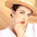 Fashion enamel glaze flower earrings s925 sterling silver earrings long pearl earrings wholesales fashion NHQD181750