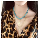 Womens bohemian multilayered bead chain pentagram pendant vacation necklace women NHCT181575