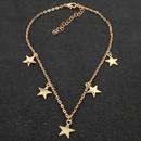 Fashion pentagram goldplated necklace women wholesales fashion NHCT181587