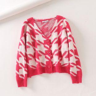 Winter Fan Fluorescent Two-Color Stripe Knitted Women's Sweater NHAM181973's discount tags