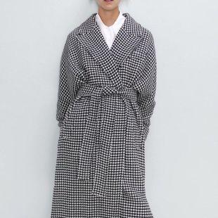Wholesale Autumn Houndstooth Women's Coat Coat NHAM182022's discount tags
