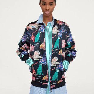 Wholesale autumn animal print women's jackets NHAM182005's discount tags