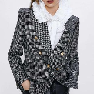 European and American Wholesale 2019 Winter Chidori Double Breasted Women's Blazer C9-28418 NHAM182067's discount tags