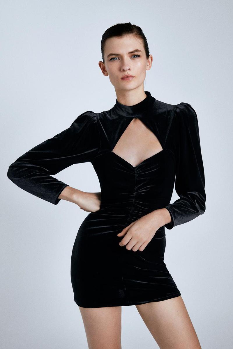 Europe and the United States Wholesale 2019 New Women's Velvet Mini Dress Y13-28386 NHAM182011