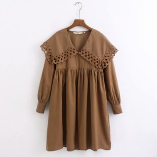 Wholesale 201 Winter Lapel Long Sleeve Dress NHAM182035's discount tags