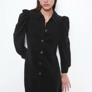 Wholesale 2019 Autumn Winter Puff Sleeve Shirt-style Long Sleeve Dress NHAM182050's discount tags