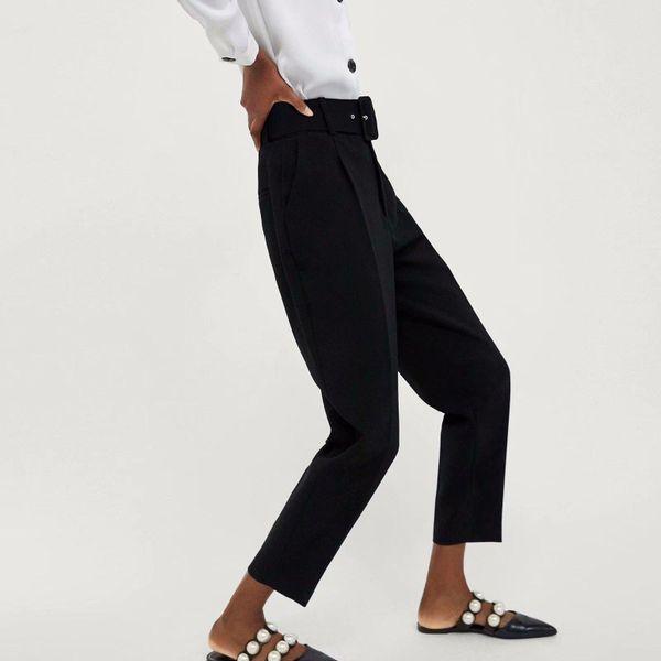 Pantalones casuales de mujer con cinturón NHAM181996