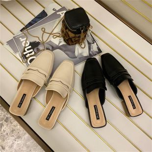 Spring new mules shoes wear stylish low heel sandals NHHU182132's discount tags
