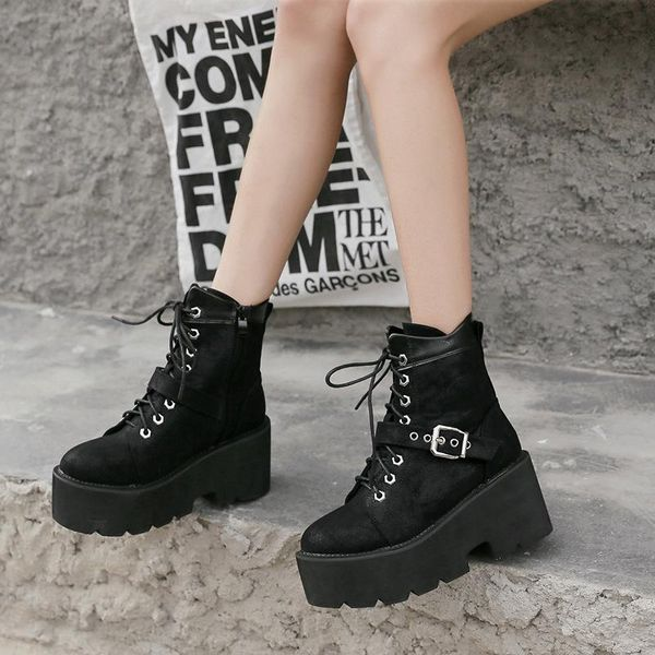 Muffin thick bottom wild cool motorcycle boots wholesales fashion  NHHU182127