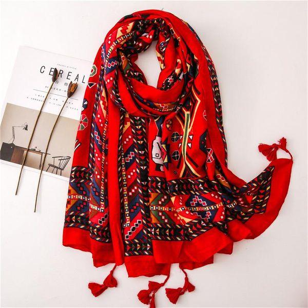 Scarf women summer new red cartoon doll tulle travel decoration silk scarf sunscreen beach towel NHGD182154