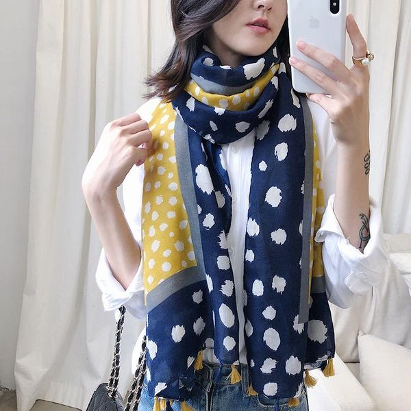 New cotton and linen scarf with silver hot flower and long shawl wholesales fashion NHTZ182103