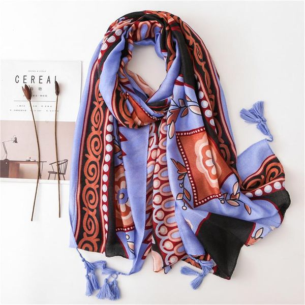 New elephant childlike scarf female fringed cotton and linen shawl NHGD182201