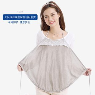 Radiation prevention silver fiber pregnant women apron expectant mommy shield signal clothes suspenders bellyband NHZY181957's discount tags