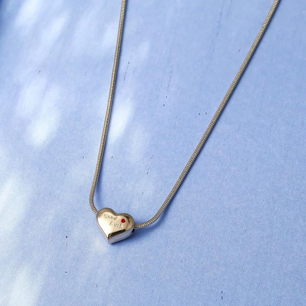 Rose Gold Love Necklace Female Clavicle Chain Simple Heart Titanium Steel Pendant Decoration Short Necklace NHIM182306